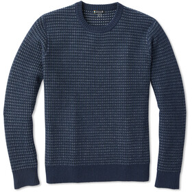 Smartwool Ripple Ridge Tick Stitch Suéter de cuello redondo Hombre, deep navy heather